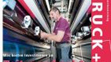 Titelausschnitt des Mitglieder- und Branchenmagazins DRUCK+PAPIER