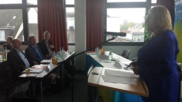 Wiebke Koerlin spricht vor der Landesfachbereichskonferenz
