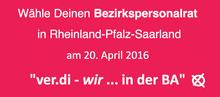 Personalratswahlen am 20. April 2016