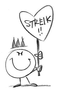 Streik einzeln smile