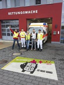 Rettungsdienst an der Wache Niederzissen