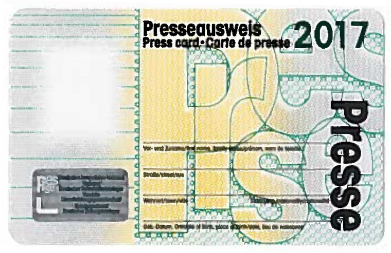 Presseausweis 2017 - Muster