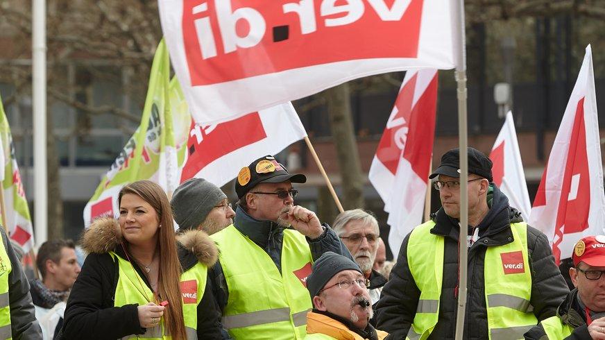 Menschen auf Streik