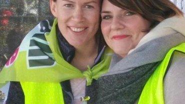 Daniela Kappes und Katja Gerhart sprachen heute für uns Pflegekräfte.