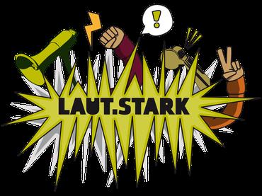 Logo Laut.Stark der ver.di Jugend Rheinland-Pfalz-Saarland
