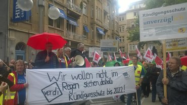 Bild der Protestaktion