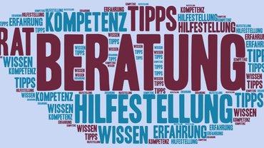 Wordle zum Thema Beratung