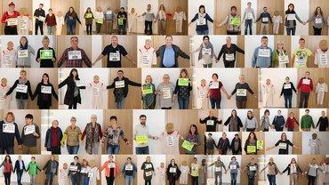 Collage von den Aktionen am Aktionstag für die Pflege