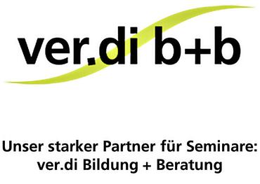 Logo ver.di b+b mit Untertitel