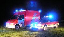 Rettungswagen und Notarzteinsatzfahrzeug