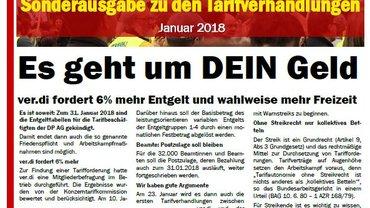 Sonderausgabe zu den Tarifverhandlungen bei der Deutschen Post AG