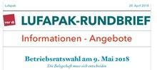 Lufapak-Rundbrief, 18.04.2018