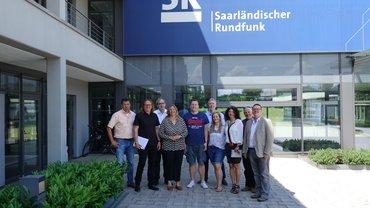 Gruppenbild der Delegation beim Saarländischen Rundfunke