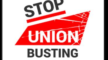 Stop Union Busting - Kampagne von Rechtsschutz und DGB