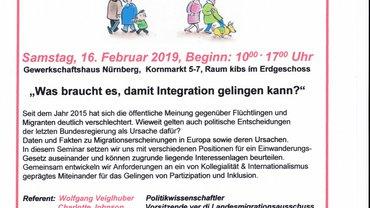 Flyer zum Tagesseminar am 16.02.19
