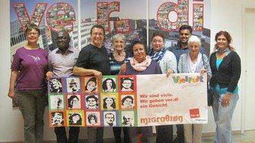 Gruppenbild von Kolleginnen und Kollegen vom Migrationsausschuss