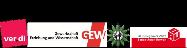 Logos der TdL Gewerkschaften