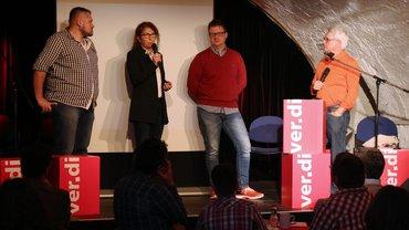 Sigurd Holler mit Interviewpartnern