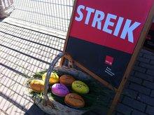 Ein Osterkorb zum Streik