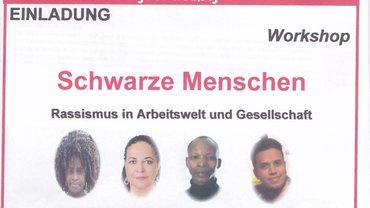 Bild von Flyer zum Worksho: Schwarze Menschen - Rassismus in Arbeitswelt und Gesellschaft