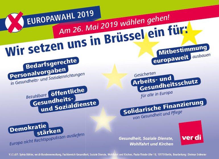ver.di sagt ja zu Europa!