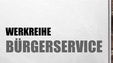 Logo Werkreihe Bürgerservice der Bundesfachgruppe Allgemeine Kommunalverwaltung