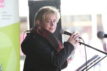 Die Vorsitzende des LAndesfachbereiches 03 in Rheinland-Pfalz-Saarland