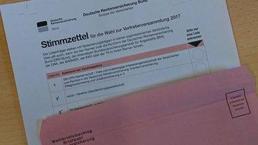 Stimmzettel zu Sozialversicherungswahl 2017