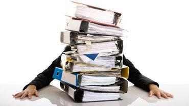 Überlastung, Arbeitsplatz, Schreibtisch, Stress