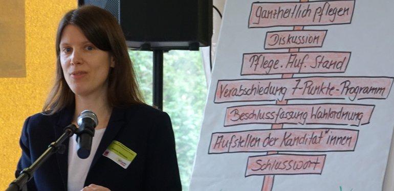 Die Bereichsleiterin Melanie Wehrheim stellte Thesen zur Diskussion auf