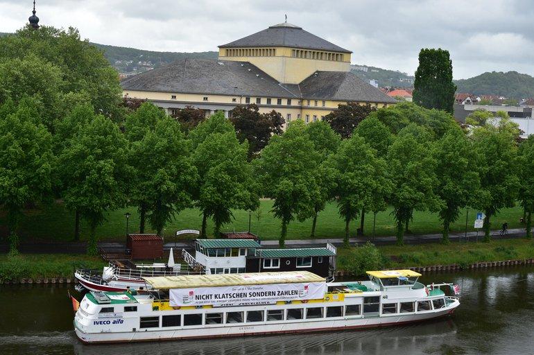 Schiff in Saarbrücken