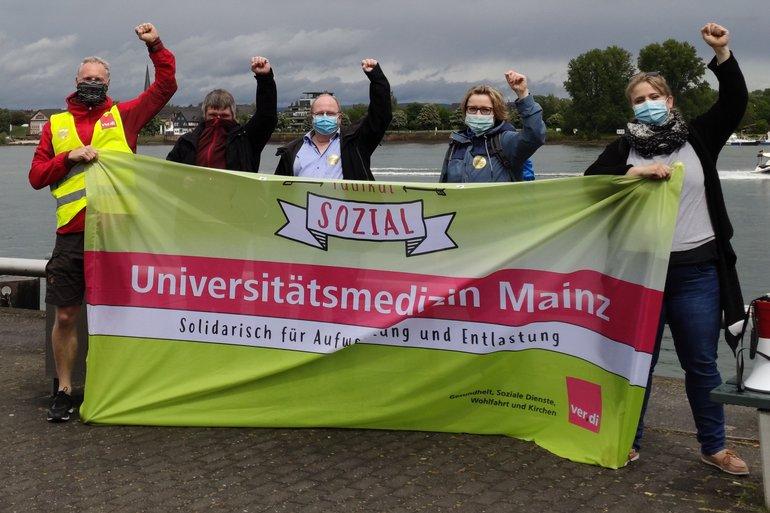 Die ver.di Betriebsgruppe der Unimedizin Mainz am Rheinufer