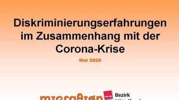 """Informationen von der ADS zum Hintergrundpapier """"Diskriminierungserfahrungen im Zusammenhang  mit der Corona Krise"""""""