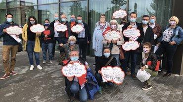 Streikende aus Püttlingen und Saarbrücken