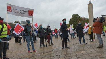 Streikende bei der BA in Saarbrücken