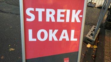 Schild Streiklokal
