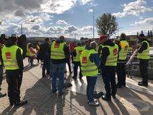 Streikende des WSA