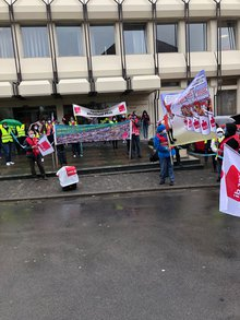 Streikende in Kusel