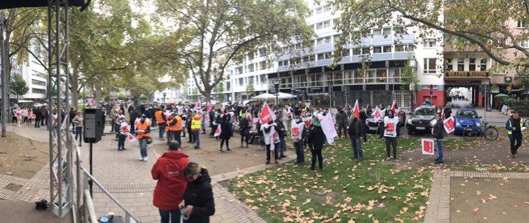 Streikende Ludwigsplatz Ludwigshafen