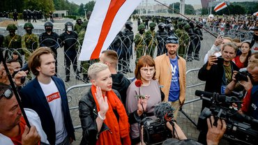 Maria Kolesnikowa Belarus Frauen aktiv Protest